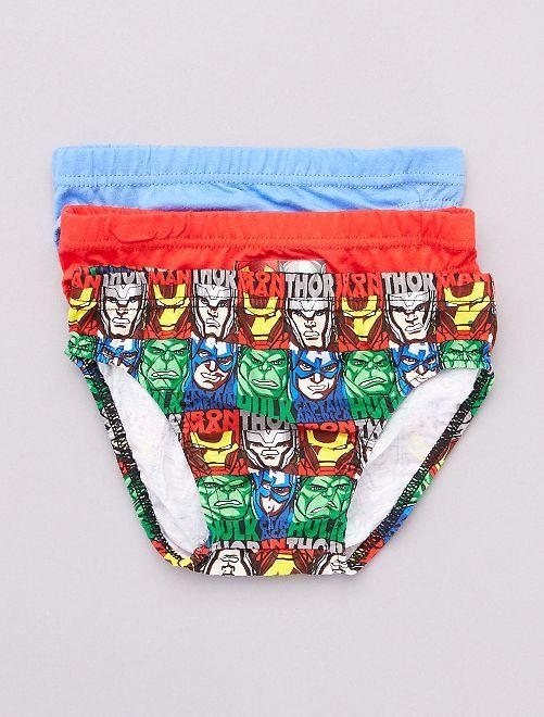 Set van 3 slips 'Avengers'                             rood / blauw