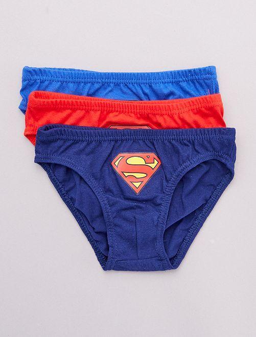 Set van 3 slips 'Superman'!                             ROOD