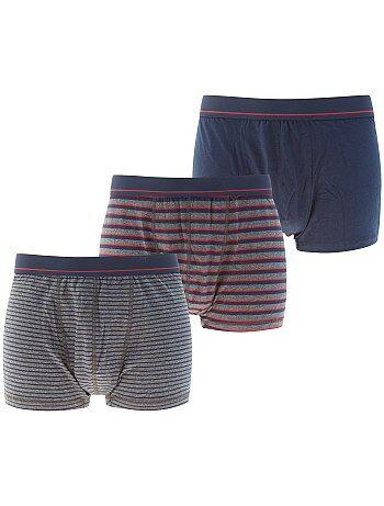 Set van 3 stretch katoenen boxershorts - Kiabi