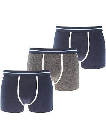 Set van 3 tweekleurige boxershorts - Kiabi