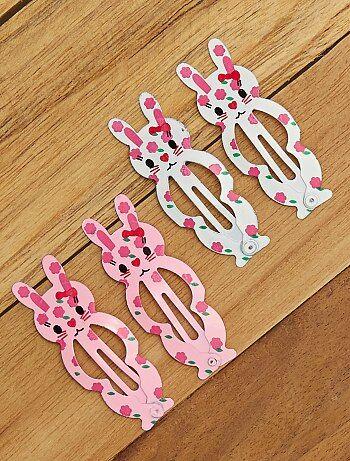 Set van 4 'konijn' haarclipjes - Kiabi