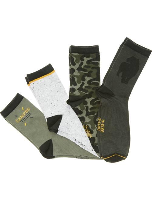 Set van 4 paar leuke sokken donkergroen Kinderkleding jongen
