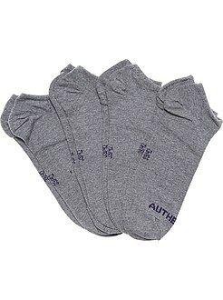 Sokken - Set van 4 paar onzichtbare sokken - Kiabi