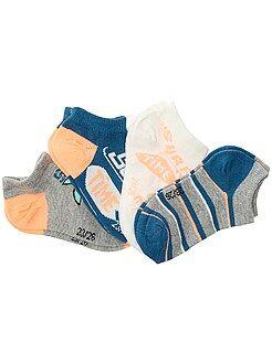 Sokken - Set van 4 paar onzichtbare sokken met print