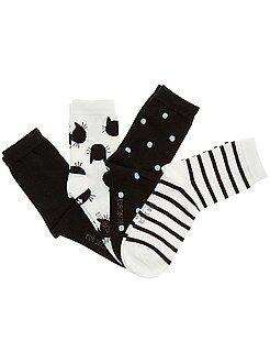 Meisjes sokken - Set van 4 paar sokken - Kiabi
