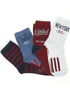 Sokken - Set van 4 paar sokken - Kiabi