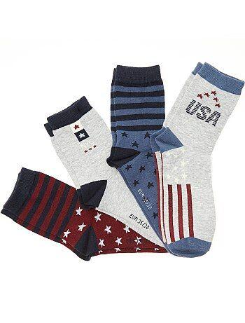 Set van 4 paar 'USA'-sokken - Kiabi