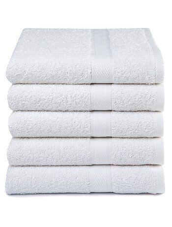 Set van 5 badhanddoeken van 100% katoen - Kiabi