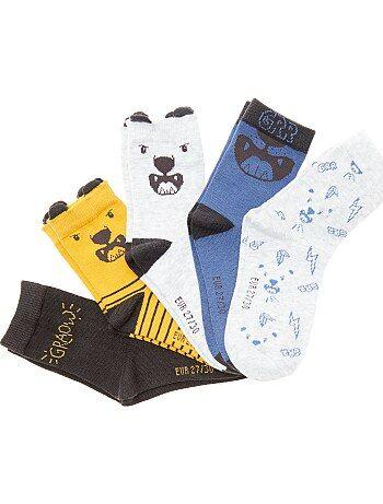 Jongenskleding 3-12 jaar - Set van 5 paar leuke sokjes - Kiabi