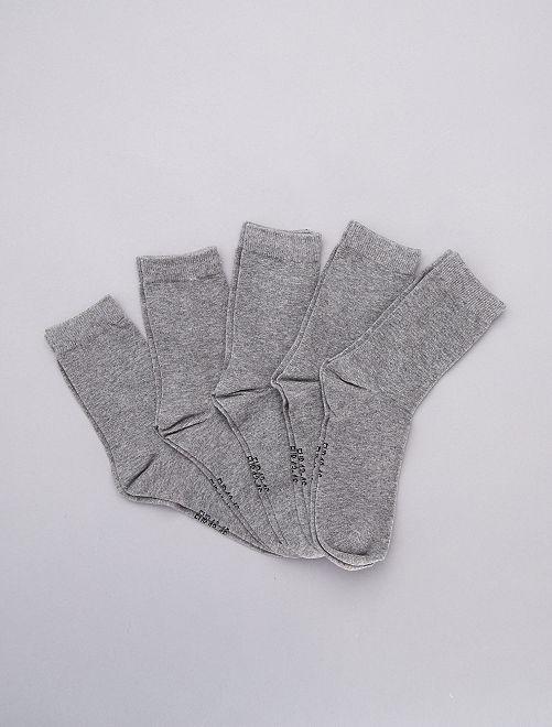 Set van 5 paar sokken                                                                 GRIJS