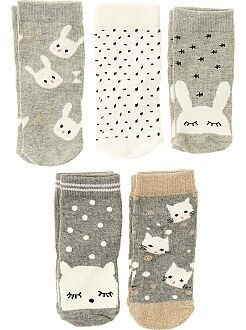 Sokken, maillot - Set van 5 paar sokken - Kiabi
