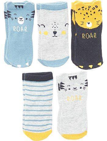Set van 5 paar sokken in tijgerthema - Kiabi