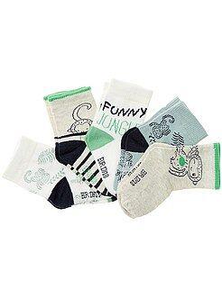Sokken, maillot - Set van 5 paar sokken met dierenthema - Kiabi