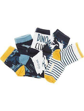 Set van 5 paar sokken met dinosaurussen - Kiabi