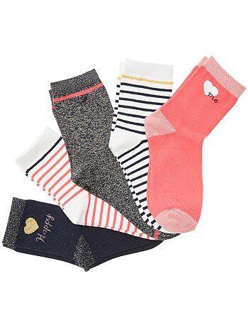 Set van 5 paar sokken met glansdraad - Kiabi