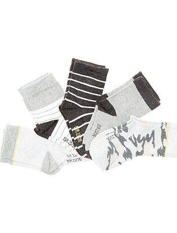 Set van 5 paar sokken met print - Kiabi