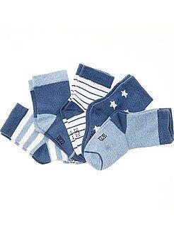 Sokken, maillot - Set van 5 paar sokken met prints - Kiabi