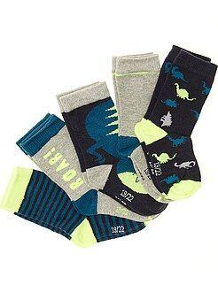 Sokken, maillot - Set van 5 paar sokken met prints