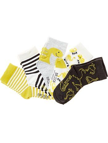 Set van 5 paar sokken met prints - Kiabi