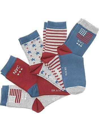 Set van 5 paar sokken 'New York' - Kiabi