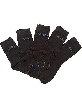 Set van 5 paar sokken voor 'elke dag van de week' - Kiabi