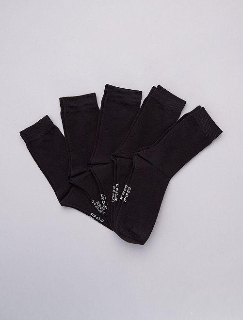 Set van 5 paar sokken                                                                 zwart