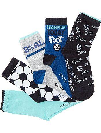 Jongenskleding 3-12 jaar - Set van 5 paar voetbalsokken - Kiabi