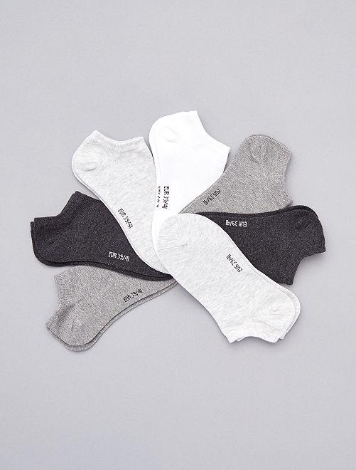Set van 7 paar lage sokken                                                                                         grijs