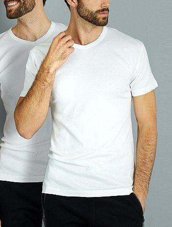 Set van twee katoenen T-shirts met een V-hals van 'Dim' - Kiabi