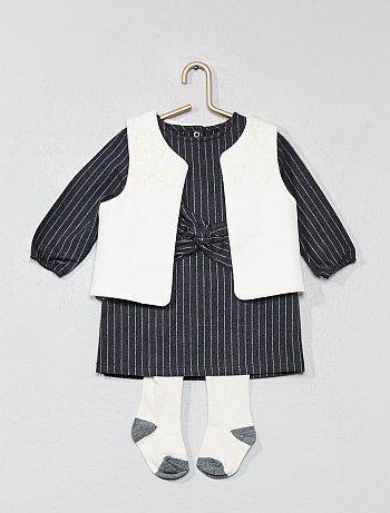 Setje met een jurk, een vestje en een maillot - Kiabi