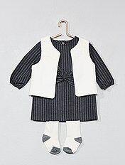 Setje met een jurk, een vestje en een maillot