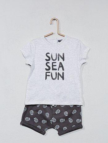 Setje met een T-shirt en een short - Kiabi