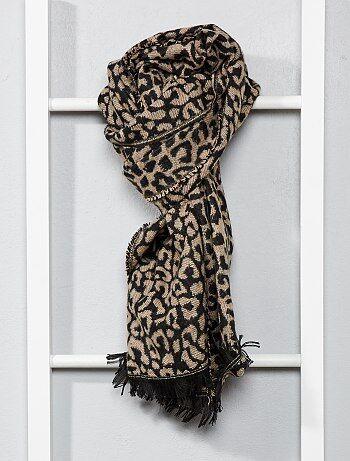 Sjaal met luipaardmotief - Kiabi