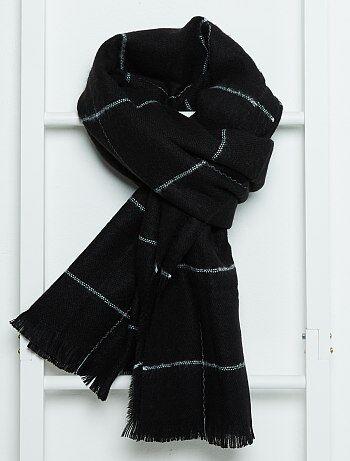 Sjaal van zacht tricot met streepjes - Kiabi