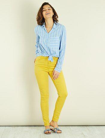 Skinny 7/8 broek met hoge taille - Kiabi