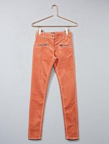 Skinny broek van stretch fluweel - Kiabi