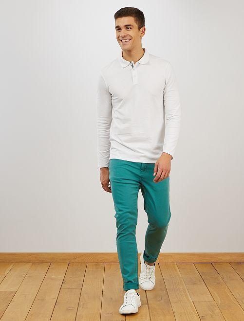 Skinny broek van stretch katoen                                                         BLAUW
