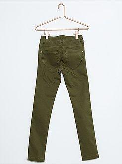 Meisjes broeken - Skinny broek van stretch katoen