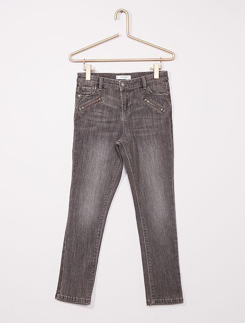 Skinny broek voor volslanke kinderen                                         GRIJS