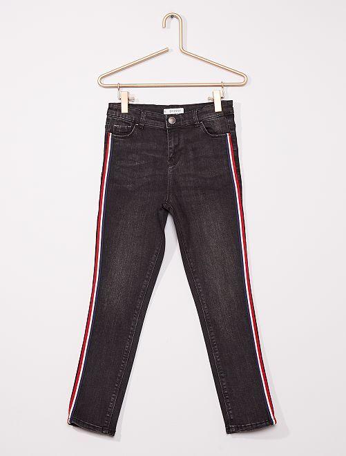 Skinny broek voor volslanke kinderen                                         ZWART