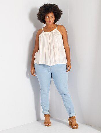 Skinny jeans met 5 zakken en push-up-effect L32 - Kiabi