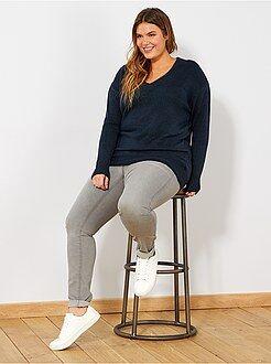 Jeans - Skinny jeans met 5 zakken en push-up-effect L32