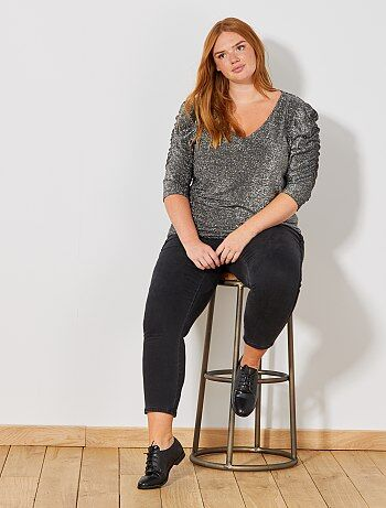 Skinny jeans met banden opzij - Kiabi