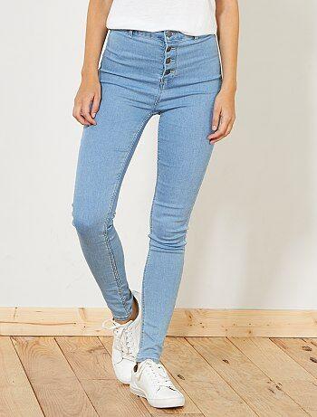 Skinny jeans met een gulp met knopen - Kiabi