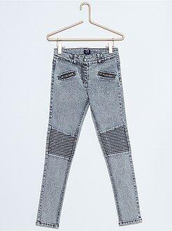 Meisjes broeken - Skinny jeans met inzetstukken op de knieën