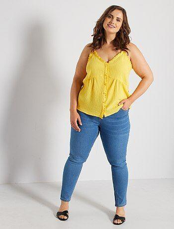 Dames Size+ - Skinny jeans met push-up-effect - Kiabi
