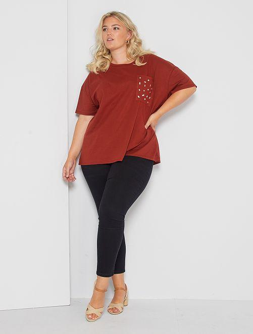 Skinny jeans met push-up-effect                                                                                                     zwart Dames size+