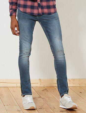 Skinny jeans met ritsjes onderaan de pijpen - Kiabi