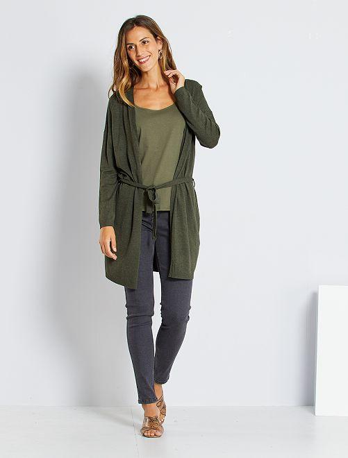 Skinny jeans met superhoge taille - Lengte US30                                                                 donkergrijs Dameskleding