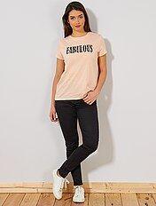 Skinny jeans met superhoge taille - Lengte US30